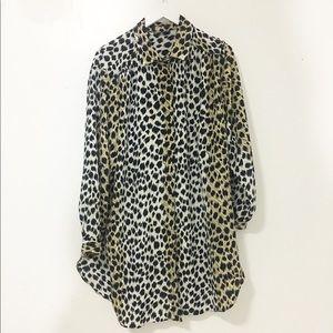 Vintage / over size leopard print shirts